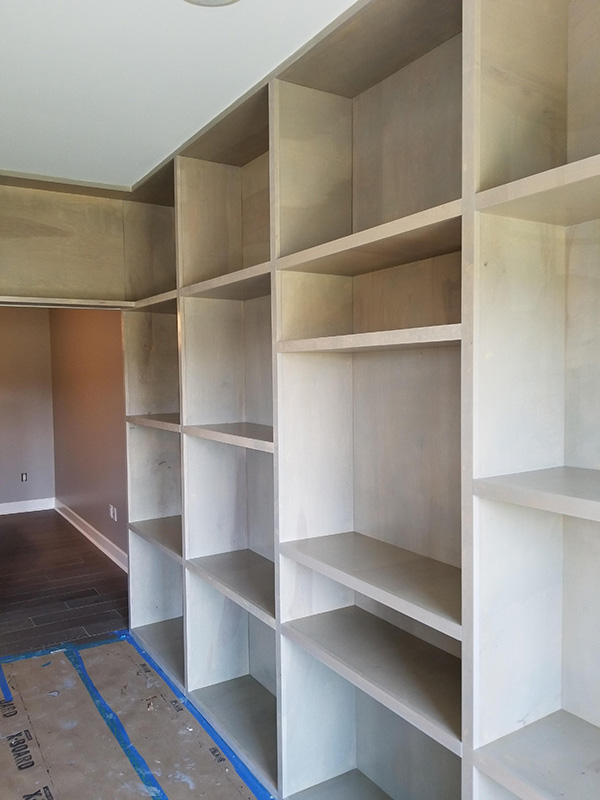 custom birch shelves stained sun-bleached gray-600w